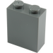 LEGO Dark Stone Gray Brick 1 x 2 x 2 with Inside Stud Holder (3245)