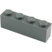 LEGO Dark Stone Gray Brick 1 x 4 (3010)