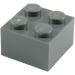 LEGO Dark Stone Gray Brick 2 x 2 (3003)