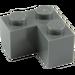 LEGO Dark Stone Gray Brick 2 x 2 Corner (2357)