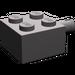 LEGO Dark Stone Gray Brick 2 x 2 with Pin and No Axle Hole