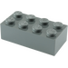LEGO Dark Stone Gray Brick 2 x 4 (3001)