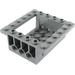 LEGO Dark Stone Gray Brick 6 x 6 x 2 with 4 x 4 Cutout and 3 Pin Holes each End (47507)