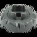 LEGO Dark Stone Gray Key Stone 4 x 4 with Hole (87750)