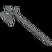 LEGO Dark Stone Gray Minifig Polearm Halberd (6123)