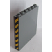 LEGO Dark Stone Gray Panel 1 x 6 x 5 with Black and Yellow Danger Stripes (Both Sides) Sticker
