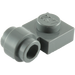 LEGO Dark Stone Gray Plate 1 x 1 with Clip (Thick Ring) (4081)