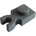 LEGO Dark Stone Gray Plate 1 x 1 with Vertical Clip (Thick 'U' Clip) (4085 / 60897)