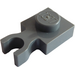 LEGO Dark Stone Gray Plate 1 x 1 with Vertical Clip (Thin 'U' Clip) (60897)