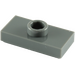 LEGO Dark Stone Gray Plate 1 x 2 with 1 Stud (without Bottom Groove) (3794)