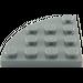 LEGO Dark Stone Gray Plate 4 x 4 Corner Round (30565)