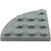 LEGO Gris Pierre Foncé  assiette 4 x 4 Rond Coin (30565)
