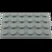 LEGO Dark Stone Gray Plate 4 x 6 (3032)