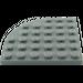 LEGO Gris Pierre Foncé  assiette 6 x 6 Rond Coin (6003)