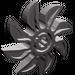 LEGO Dark Stone Gray Propellor 8 Blade 5 Diameter