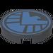 LEGO Dark Stone Gray Round Tile 2 x 2 with Bright Light Blue S.H.I.E.L.D Logo Sticker
