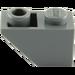 LEGO Dark Stone Gray Slope 1 x 2 (45°) Inverted (3665)