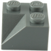 LEGO Dark Stone Gray Slope 2 x 2 (45°) with Double Concave (Rough Surface) (3046)