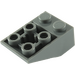 LEGO Dark Stone Gray Slope 2 x 3 (25°) Inverted with Connections between Studs (3747)
