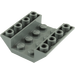LEGO Dark Stone Gray Slope 45° 4 x 4 Double Inverted with Open Center (No Holes) (4854)