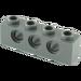 LEGO Dark Stone Gray Technic Brick 1 x 4 with Holes (3701)