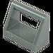 LEGO Dark Stone Gray Tile 1 x 2 with Handle (2432)
