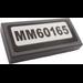 "LEGO Dark Stone Gray Tile 1 x 2 with ""MM60165"" Sticker"