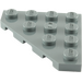 LEGO Dark Stone Gray Wedge Plate 4 x 4 (45°) (30503)