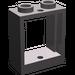 LEGO Dark Stone Gray Window 1 x 2 x 2 without Sill (60592)