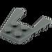 LEGO Dark Stone Gray Wing 4 x 4 with 2 x 2 Cutout (41822 / 43719)