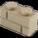 LEGO Dark Tan Brick 1 x 2 with Embossed Bricks (98283)