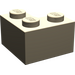 LEGO Dark Tan Brick 2 x 2 Corner (2357)