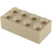 LEGO Dark Tan Brick 2 x 4 (3001)