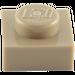 LEGO Dark Tan Plate 1 x 1 (3024)