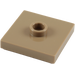 LEGO Dark Tan Plate 2 x 2 with Groove and 1 Center Stud (23893 / 87580)