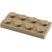 LEGO Dunkel Beige Platte 2 x 4 (3020)