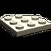 LEGO Dark Tan Plate 3 x 3 Corner Round