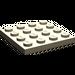 LEGO Dark Tan Plate 4 x 4