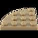 LEGO Dark Tan Plate 4 x 4 Corner Round (30565)