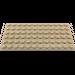 LEGO Dark Tan Plate 6 x 12 (3028)