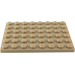 LEGO Dark Tan Plate 6 x 8 (3036)