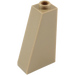 LEGO Dark Tan Slope 75 2 x 1 x 3 with Hollow Stud (4460)