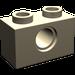 LEGO Dark Tan Technic Brick 1 x 2 with Hole