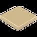 LEGO Dark Tan Tile 2 x 2 with Groove (3068)