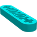 LEGO Dark Turquoise Beam 4 x 0.5 with Axle Hole each end (32449)