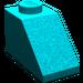LEGO Dark Turquoise Slope 1 x 2 (45°) (3040)