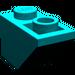 LEGO Dark Turquoise Slope 1 x 2 (45°) Inverted (3665)