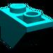 LEGO Dark Turquoise Slope 45° 2 x 1 Inverted (3665)