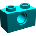 LEGO Dark Turquoise Technic Brick 1 x 2 with Hole (3700)