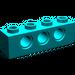 LEGO Dark Turquoise Technic Brick 1 x 4 with Holes (3701)